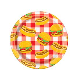 Platos Hot Dog y Hamburguesa (Pack de 8)