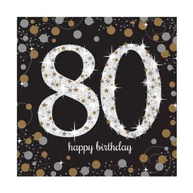 Servilletas Cumple 80 (Pack de 16)