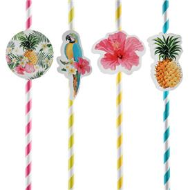 Pajitas Tropical Paradise (Pack de 8)