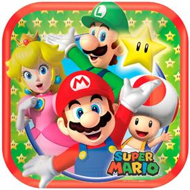 Platos Super Mario (Pack de 8)