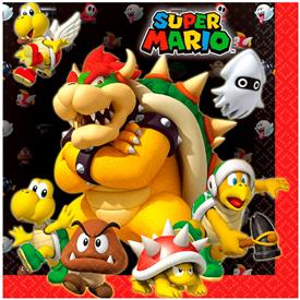 Servilletas Super Mario (Pack de 16)