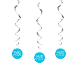 Espirales Baby Shower Azul (Pack de 3)