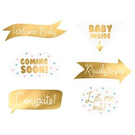 Photocall Baby Shower (Pack de 6)