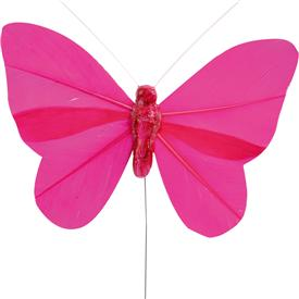 Pack 6 Mariposas Fucsia