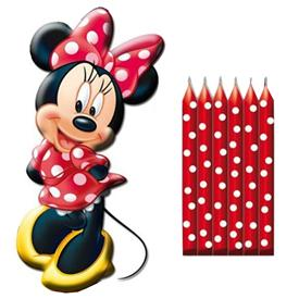 Pack 6 Velitas + Figura Minnie