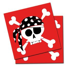 Pack 20 Servilletas Piratas