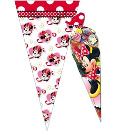 Pack 6 Bolsas Cono Minnie Mouse
