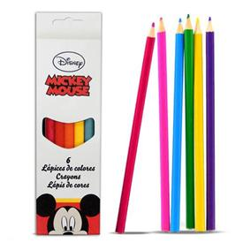 Lapices Mickey Mouse (6 colores)