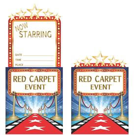 Invitaciones Hollywood (Pack de 8)