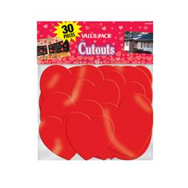 Corazones Cut Out (Pack de 30)