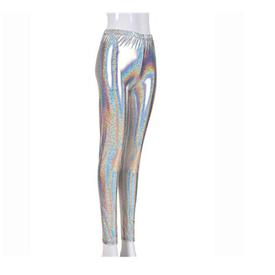 Leggings Neon Plata